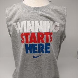 Nike Sleeveless Workout Gray T-Shirt Boy's Size 7